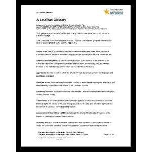PDF - Lasallian Glossary - Various Authors