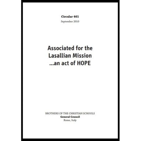 PDF - Circular 461 - Associated for the Lasallian Mission ... an act of HOPE - ROME