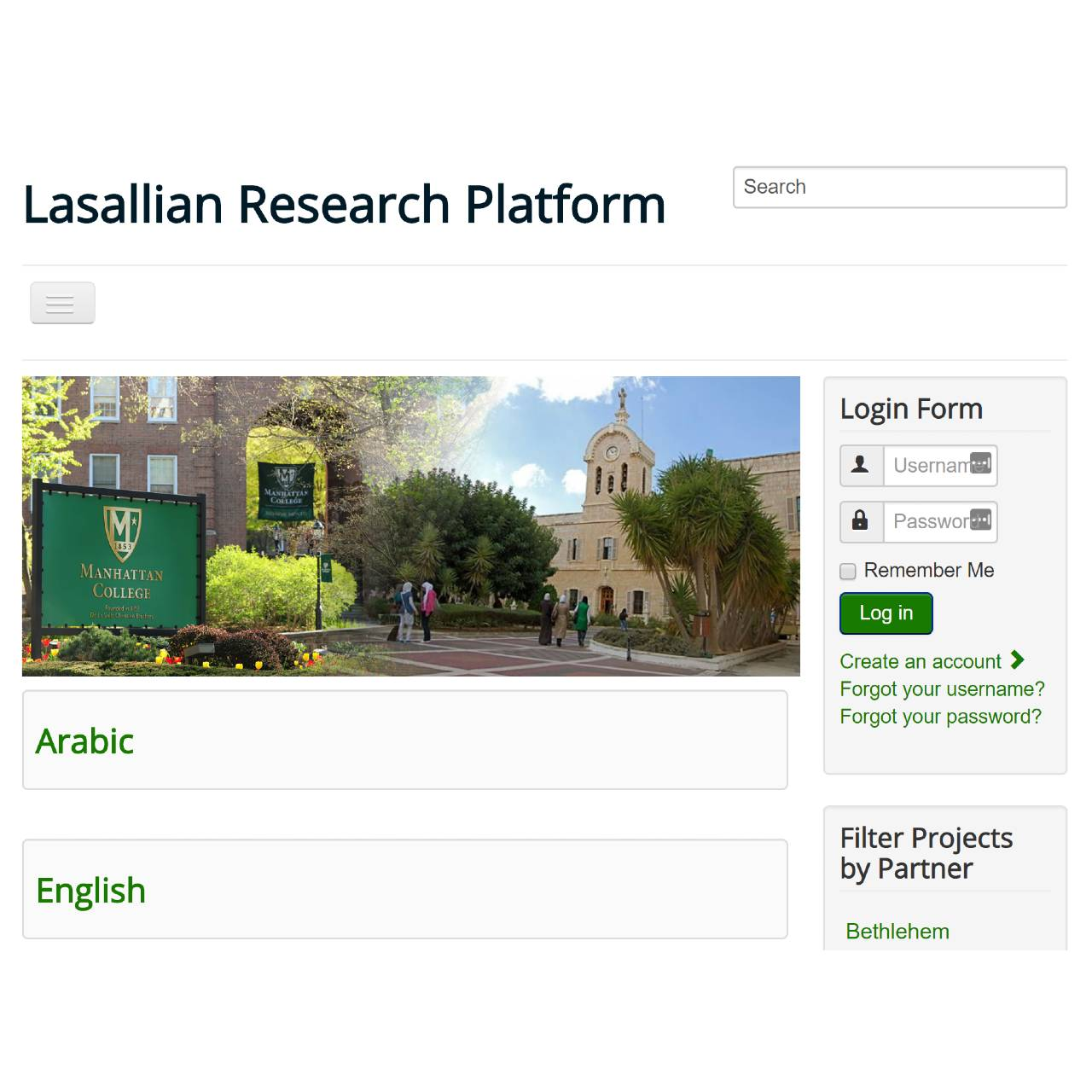LASALLIAN RESEARCH PLATFORM