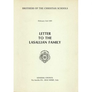 PRINT 1989 Lett To Lasallian Family